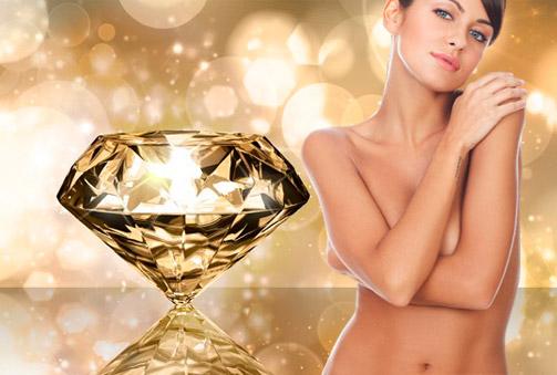 Peeling corporal con polvo de diamante y masaje con aceite de oro de 60 min