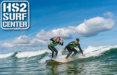 Clase de surf en Hendaya