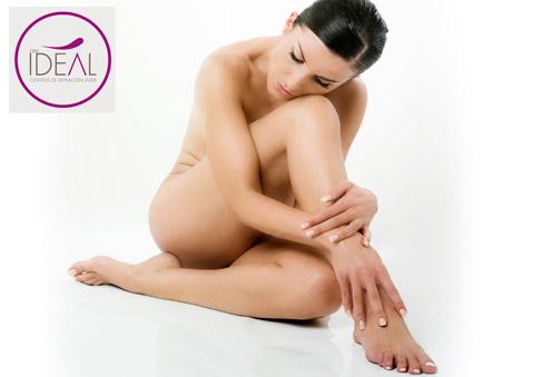 2 sesiones de depilación láser en medias piernas, ingles y axilas con test de tolerancia y análisis del tipo de piel