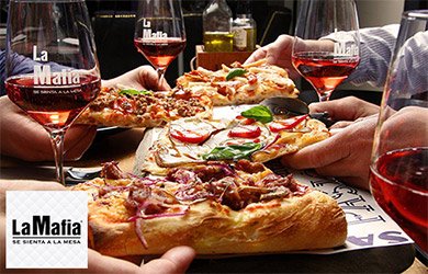 Come toda la pizza que quieras para 1 persona