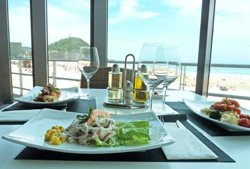 Delicioso menú para este verano en primera línea de la playa de la Zurriola