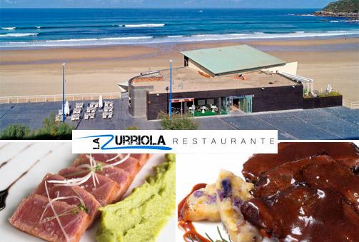 Menú con verduras a la brasa, lasaña de gambas, carrillera de ternera y mucho más en primera línea de playa de la Zurriola