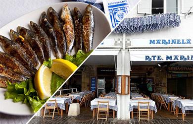 Menú de sardinas en el Restaurante Mariñela-Igeldo