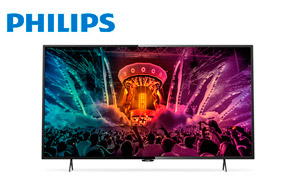 "Televisor LED 43"" Philips 43PUH6101 con resolución 4K y Smart TV"