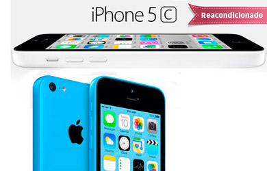 iPhone 5c 16 GB. Reacondicionado Clase A Libre color azul o blanco.