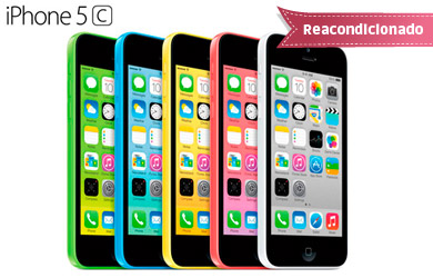 iPhone 5c 16 GB. Reacondicionado Clase A Libre. Cuatro colores disponibles