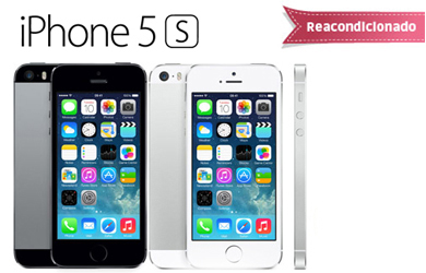 iPhone 5S 16 GB. Reacondicionado Clase A Libre color Gris espacial o Silver
