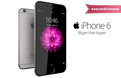 iPhone 6 16 GB Reacondicionado Clase A. Disponible en colores Silver, Gold o Space grey