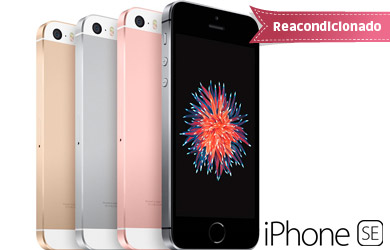 iPhone SE 16 GB. Reacondicionado Clase A Libre. Cuatro colores disponibles
