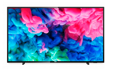 "Smart TV Philips 43"" 4K ultra HD LED wifi de color negro"