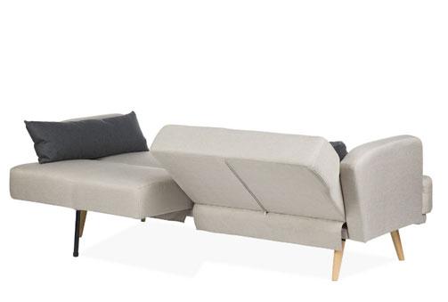 Deskontalia elegante sof cama de estilo n rdico con patas de madera 2 cojines - Sofa cama estilo nordico ...