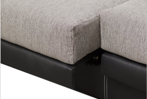 Deskontalia sof con chaise longe reclinable y puffs laterales - Puff las palmas ...