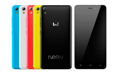 "Weimei Neon con pantalla de 5"" 16GB, 4G Quad Core y dual sim. Cuatro colores disponibles"