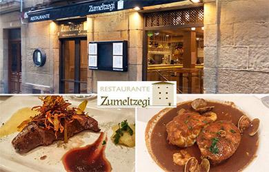 Menú en Restaurante Zumeltzegi