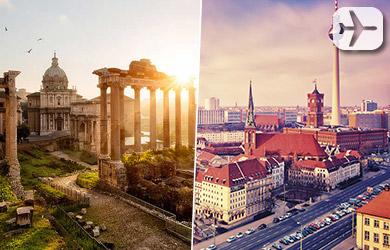 Viaje de 5 noches: 3 en Roma y 2 en Berlín desde Bilbao en régime